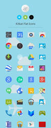 Kitkat Flat Icons by dtafalonso