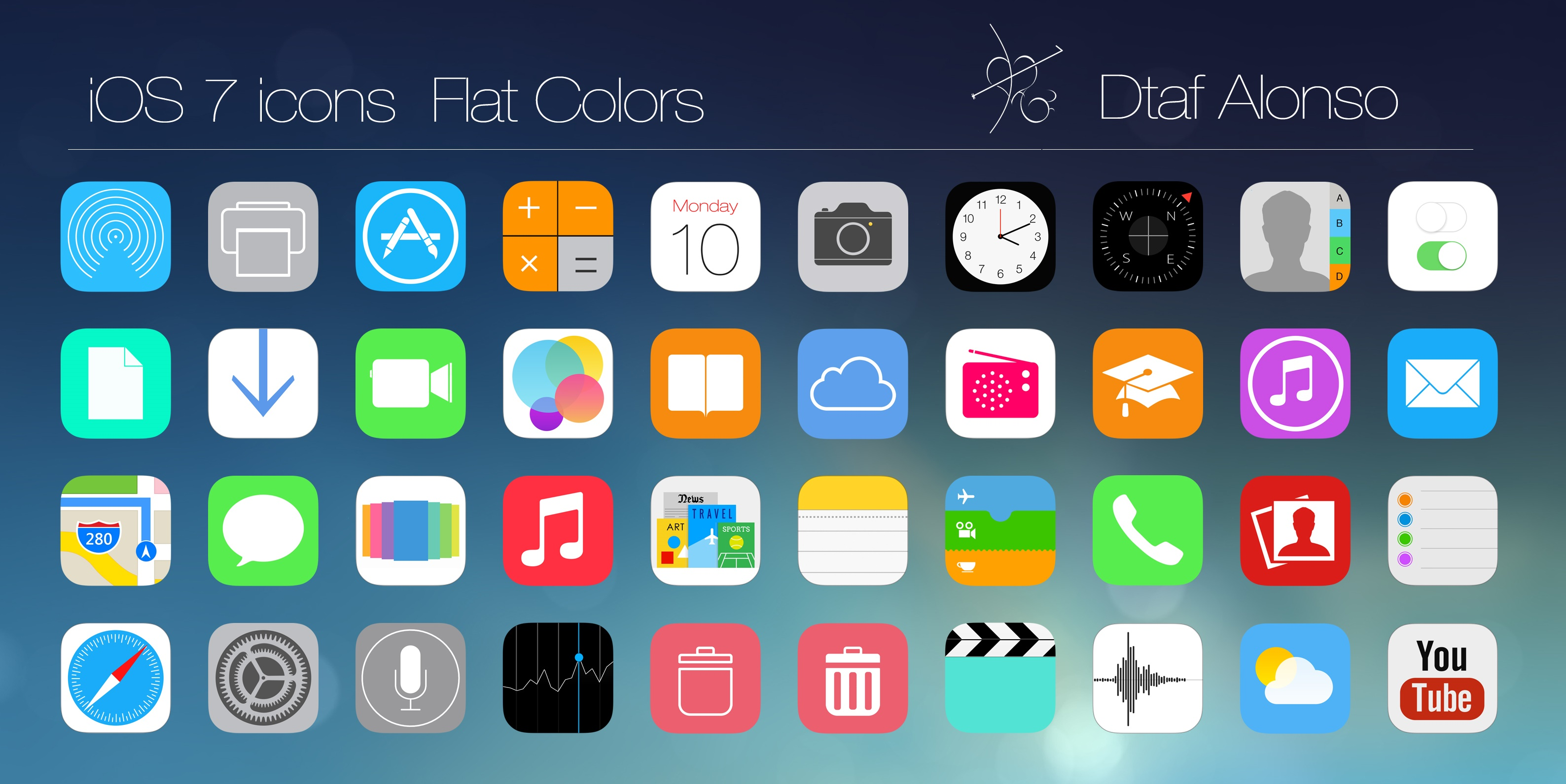 iOS 7 Flat Icons by dtafalonso