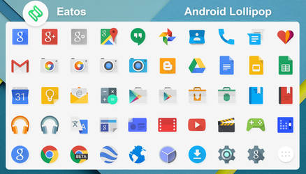 Android Lollipop Icons by dtafalonso