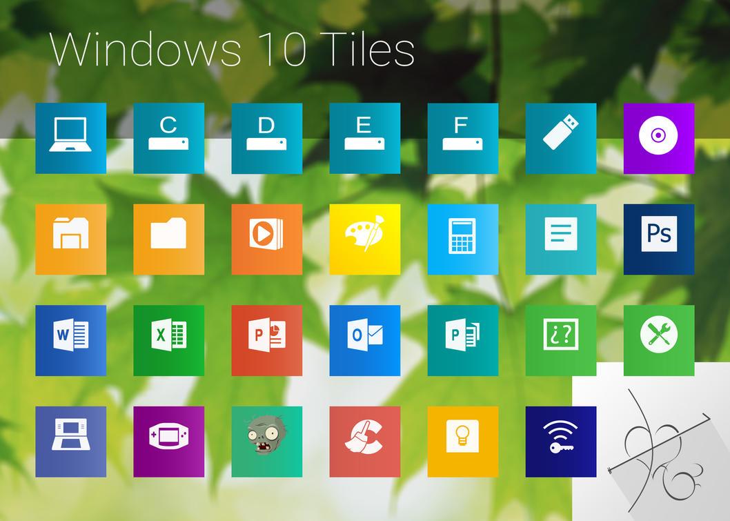 Icon Tile Work : Windows tiles by dtafalonso on deviantart