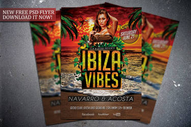 Free Ibiza Vibes Flyer Template by FlipNGecko