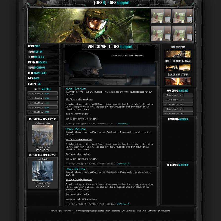 Clan Template By Blazedryan On DeviantArt - Clan website templates