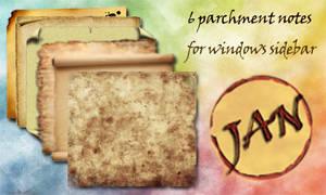 parchment note
