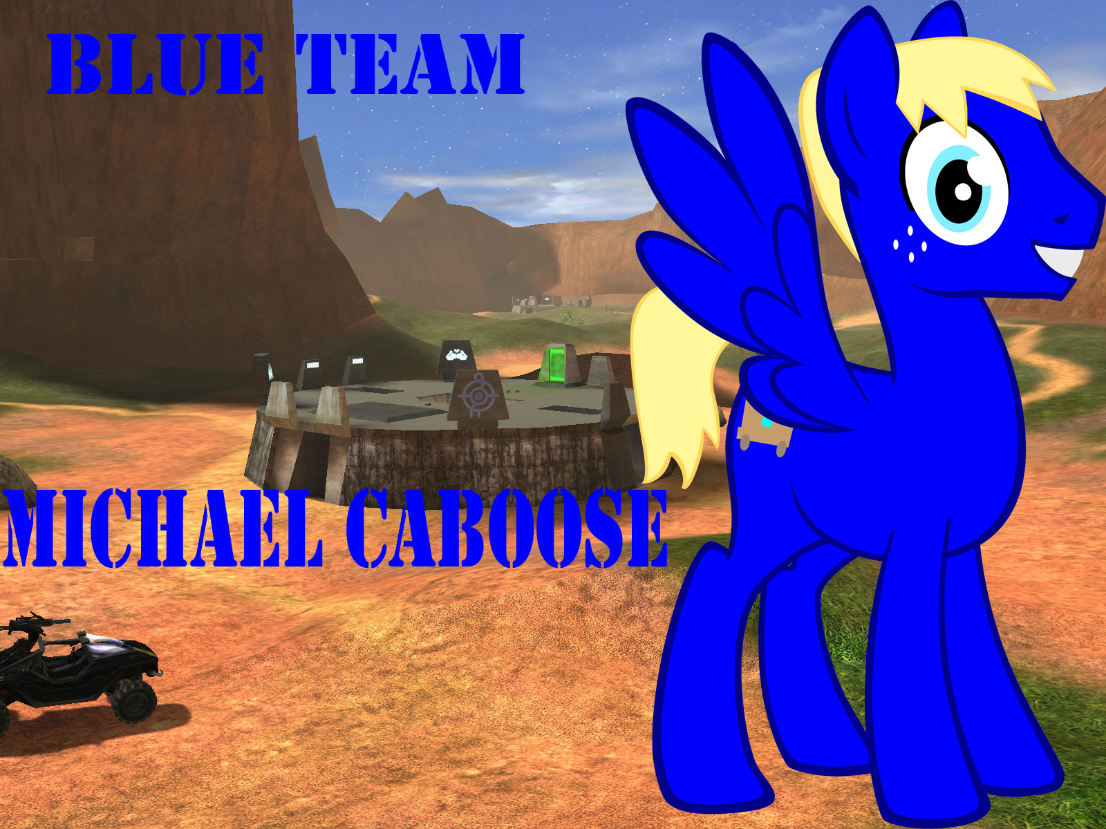 Red vs Blue Ponies - Michael Caboose by VirTaAshi on DeviantArt