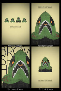 Brown Shyshark Wallpaper Set for Iphone 4 and 4S