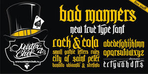 Bad Manners Font