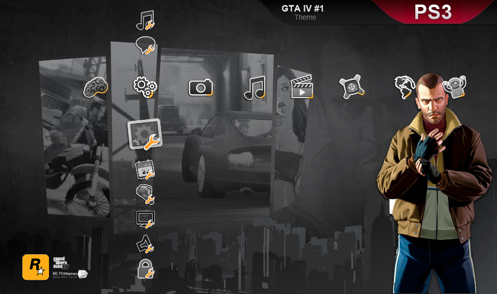 GTA IV, PS3 theme by M23creations on DeviantArt