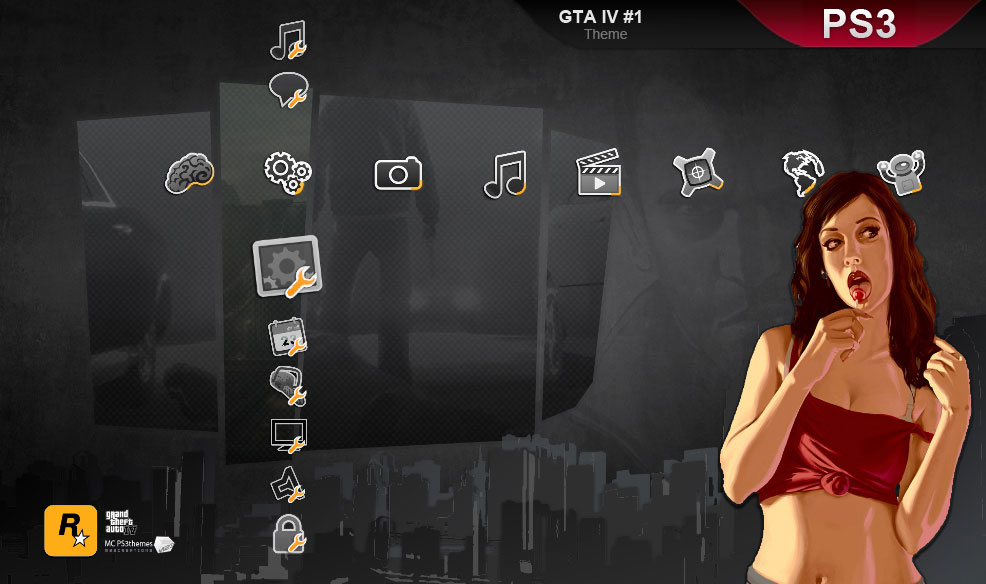 GTA IV, PS3 theme, bis by M23creations on DeviantArt
