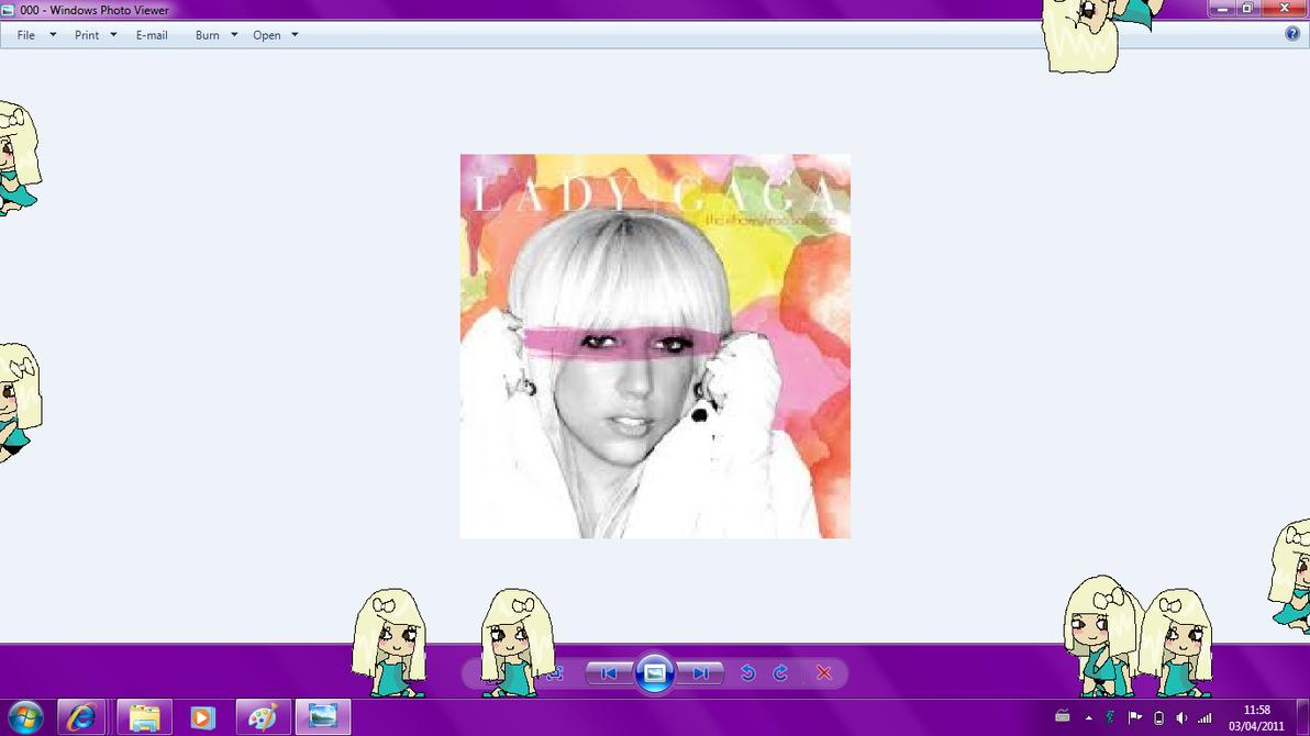 Lady Gaga Shimeji by Melc1010