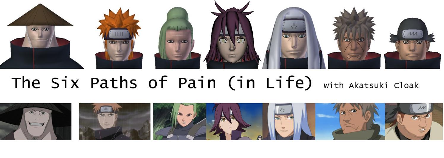 6 paths of pain naruto
