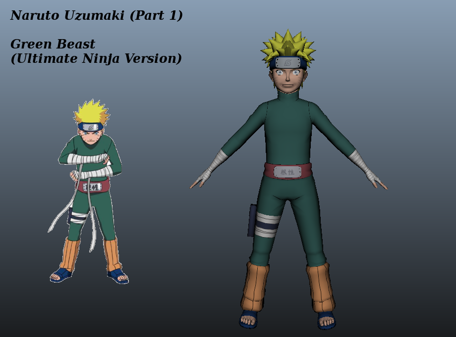 Green Beast Naruto Ultimate Ninja Version By