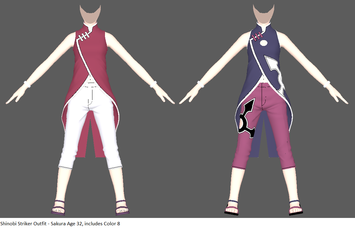 Shinobi Striker Outfits - Sakura Age 32 by ChakraWarrior2012