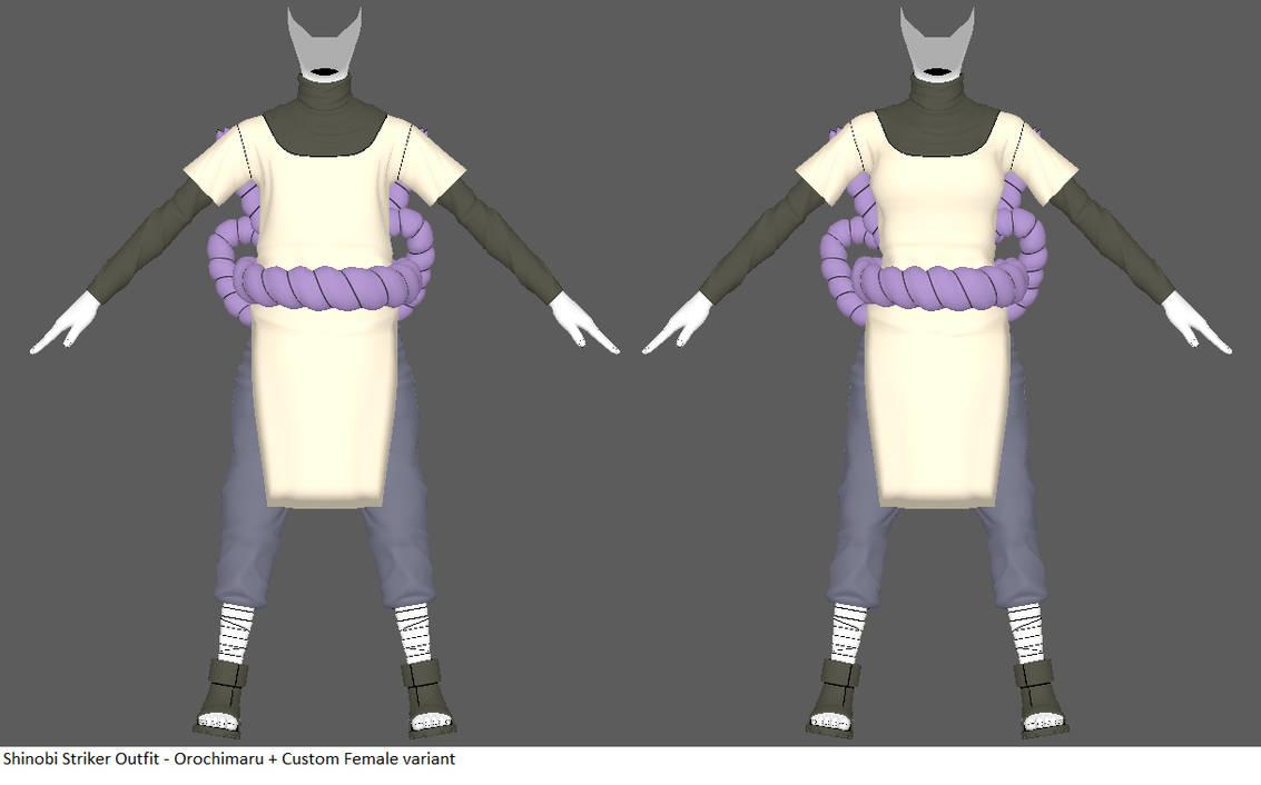Shinobi Striker Outfit - Orochimaru by ChakraWarrior2012 on