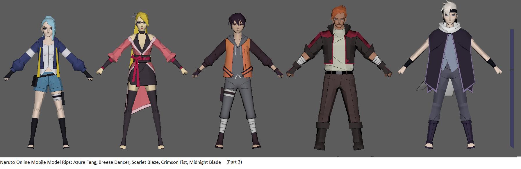 Naruto Online Avatars (Part 3) - Static by ChakraWarrior2012