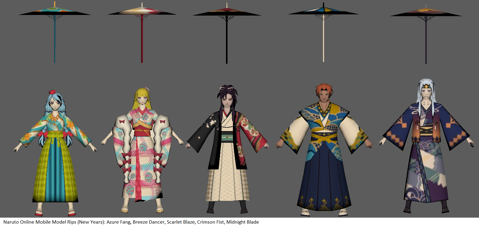 Naruto Online Mobile Avatars (New Years) by