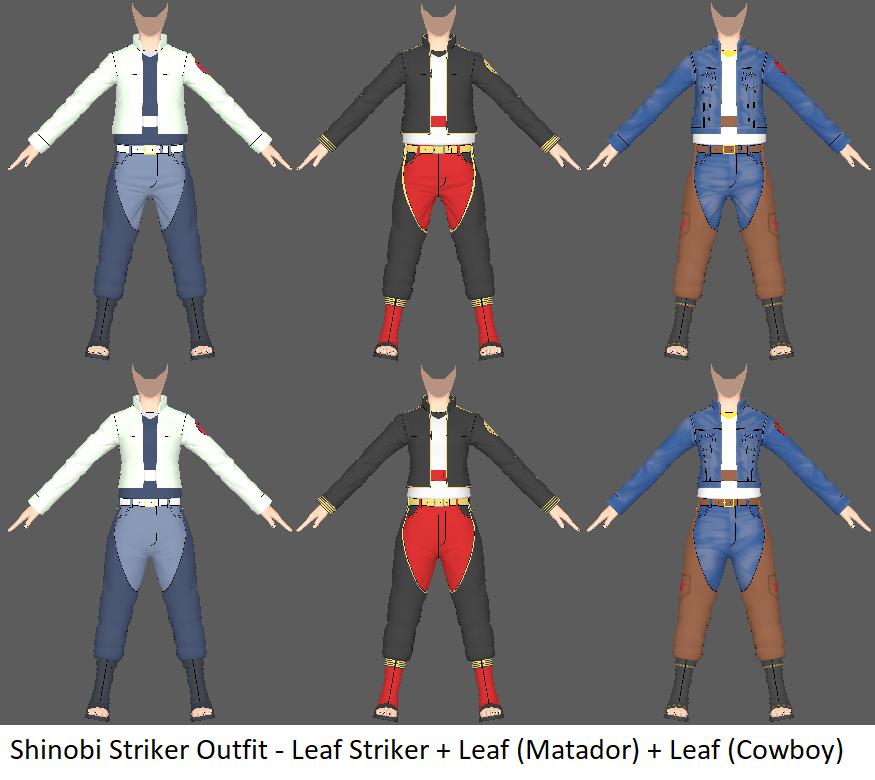 Shinobi Striker Outfit - Leaf Striker by ChakraWarrior2012