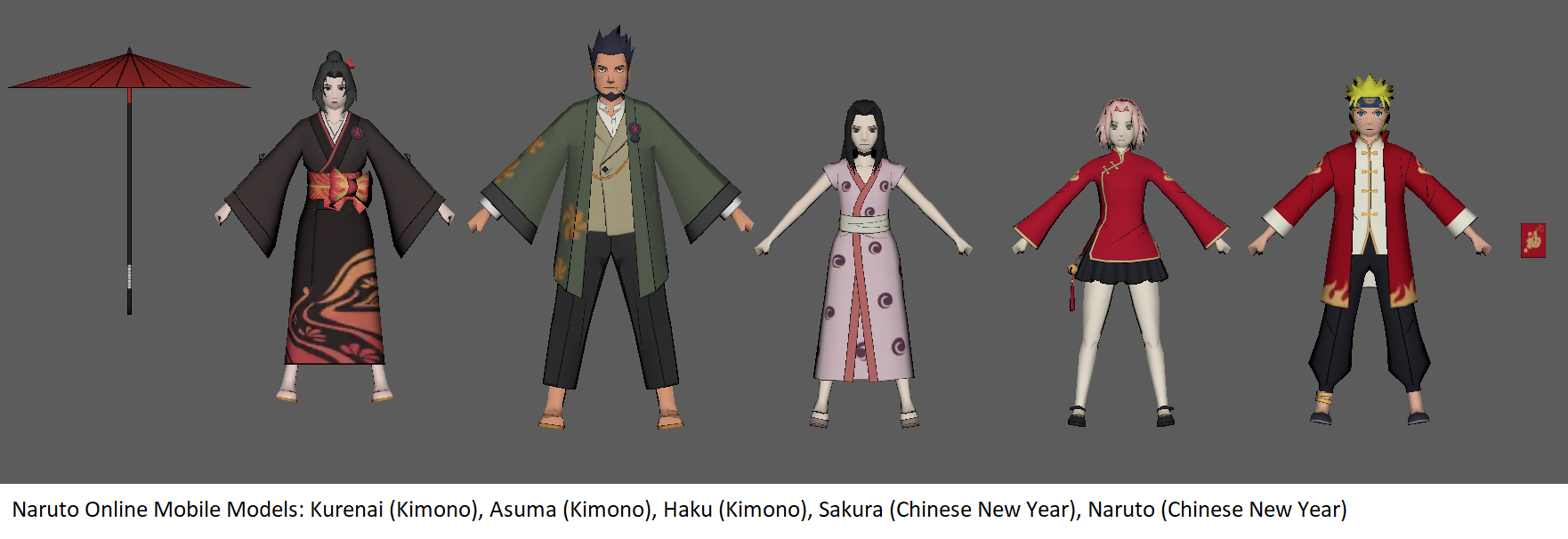 Naruto Online Mobile - Kimonos + Chinese New Year by