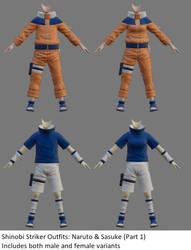 Shinobi Striker Outfit - Naruto + Sasuke (Part 1)