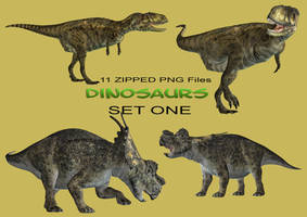 Dinosaurs Set 1 by Roy3D