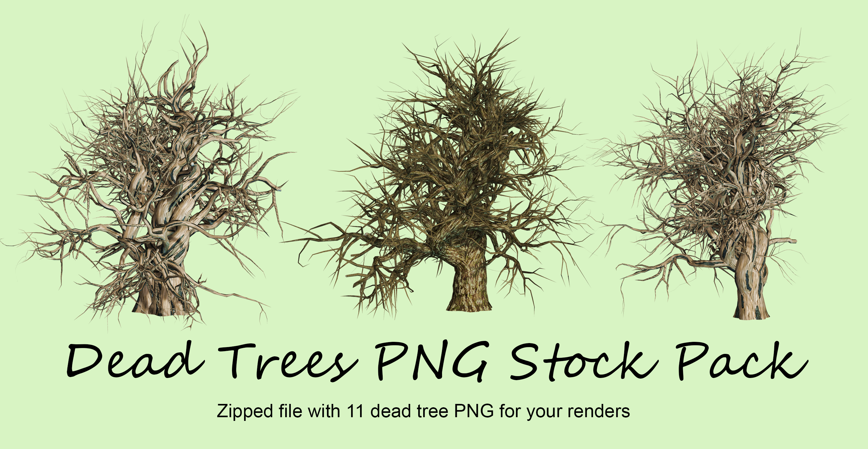 Dead Trees Pack PNG Stock