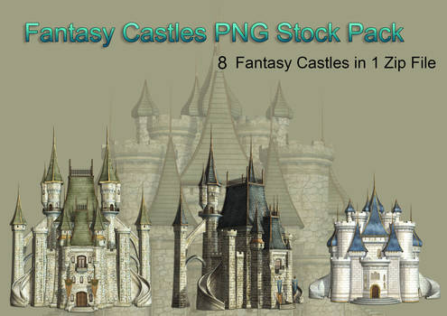 Fantasy Castle PNG Stock Pack