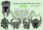 Fantasy Helmets PNG Stock Pack