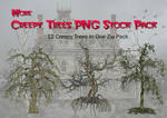 Creepy Trees PNG Stock Pack
