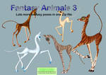 Fantasy Animals 3 PNG Stock Pack