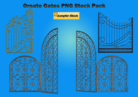 Ornate Gates PNG Stock Pack by Roy3D