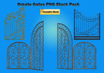 Ornate Gates PNG Stock Pack
