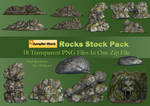 Rocks PNG Stock Pack