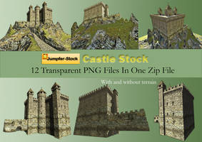 Castle PNG Stock Pack by Roy3D