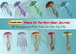 Giant Jellyfish PNG Stock Pack
