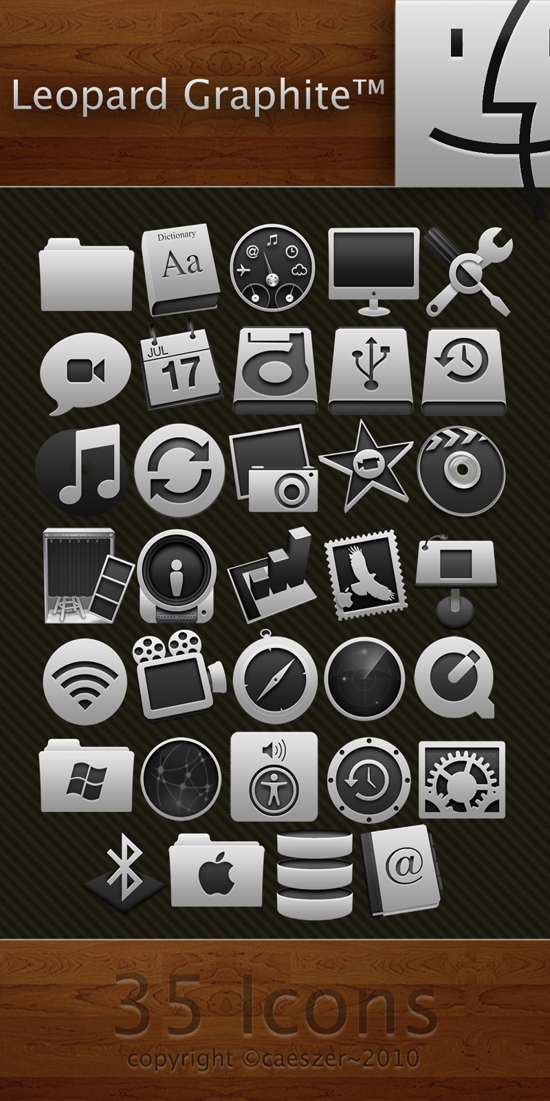 Leopard Graphite Icon Pack