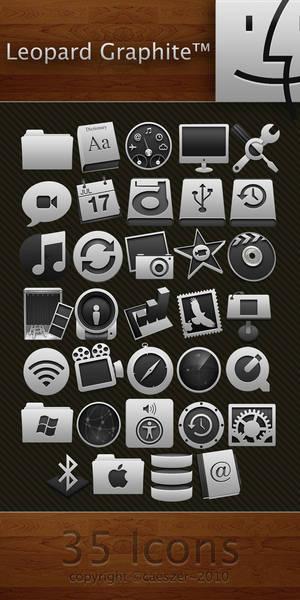 Leopard Graphite Icon Pack