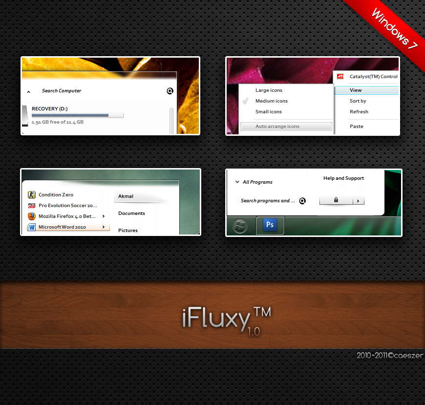 iFluxy for Windows 7