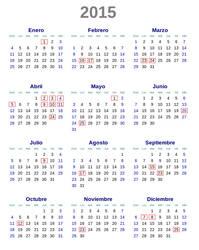 Calendario 2015 Argentina SVG