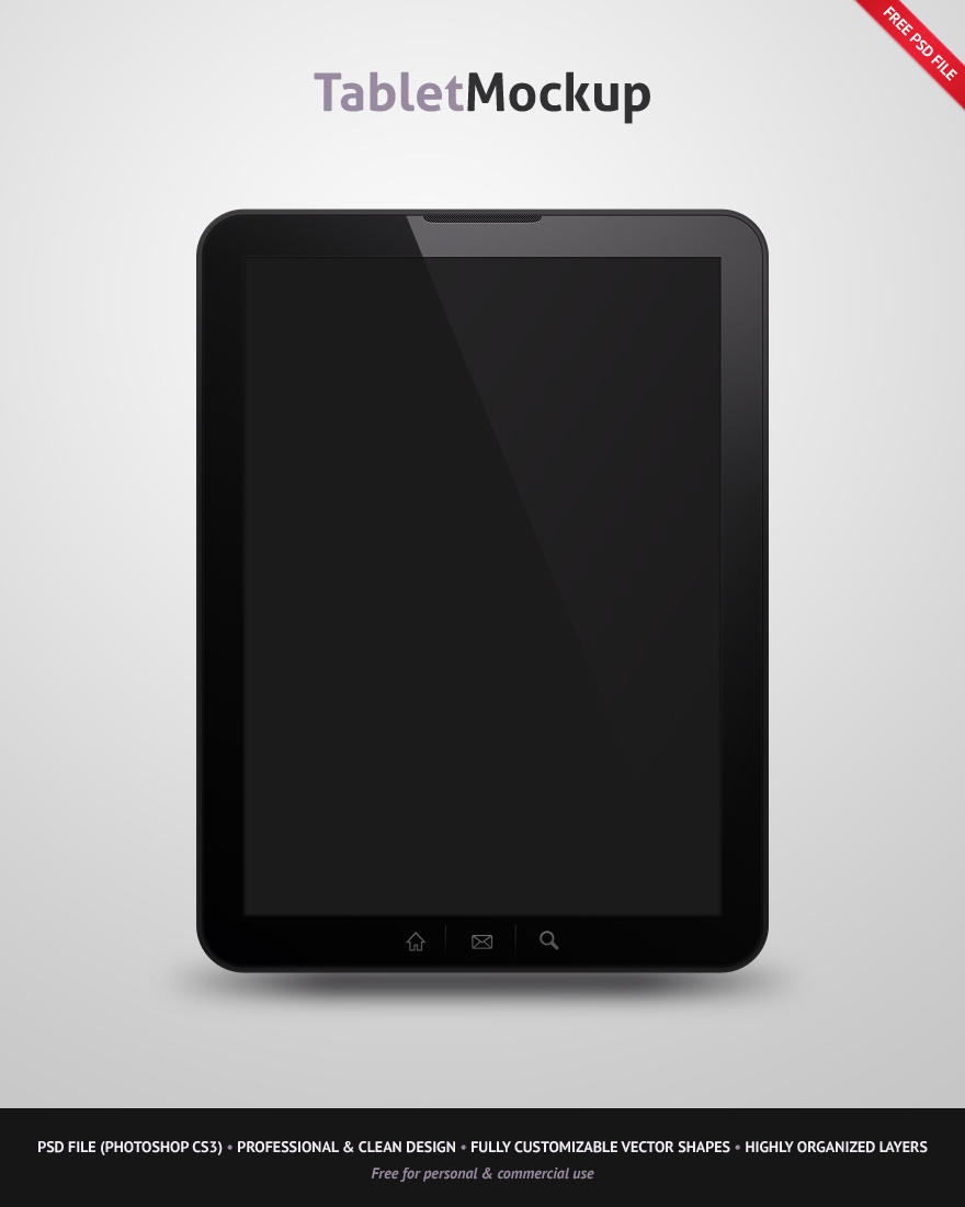 Free Tablet Mockup by erigongraphics