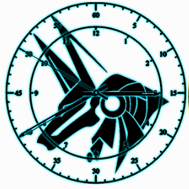 Anubis clock by exostyx