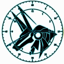 Anubis clock by exostyx