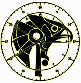 Horus clock by exostyx