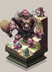 Minotaur family by HectNishi