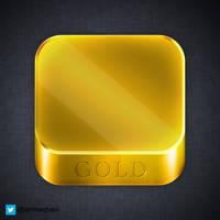 24 karat gold iOS App icon (PSD)