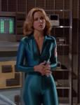 Erin Gray in skintight shiny spandex bodysuit