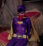 Gorgeous Batgirl captured, bound and gagged
