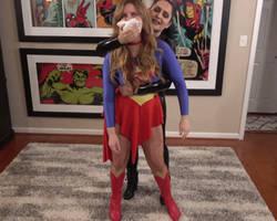 Sexy Supergirl passes out due to chloroform attack