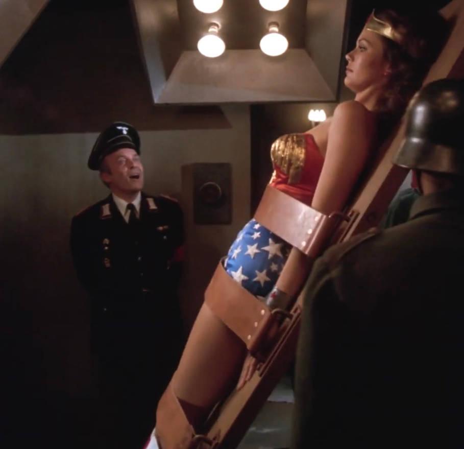 Sexy Wonder Woman a helpless bound captive