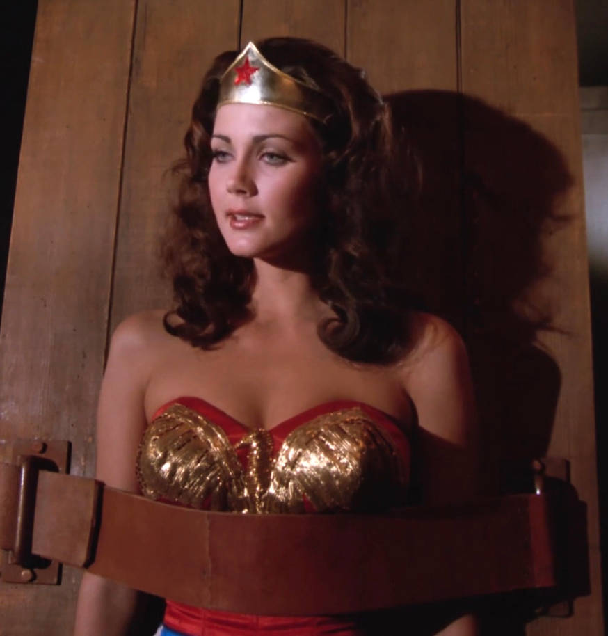 Wonder Woman looks delicious strapped down