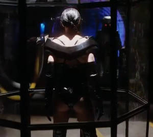 Sexy Black scorpion trapped and helpless, that ass