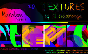 Textures - Rainbow Set 1 by lilbrokenangel